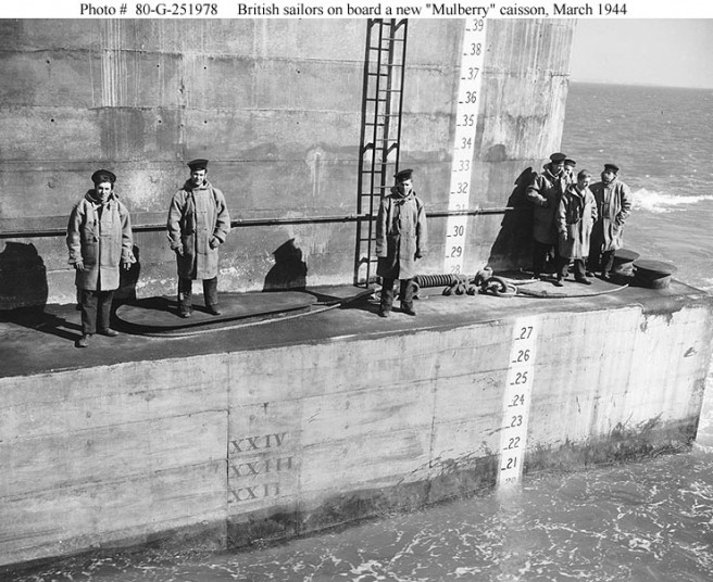 British Sailors on board a concrete